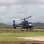 Blue Hawaaian Helicopter returning from the tour.