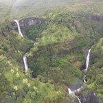 Multiple waterfalls.