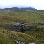 pen-y-ghent still covered by clouds