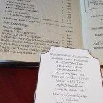 Waffel- und Kuchenkarte