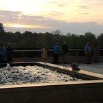 Kennedy Center terrace at sunset