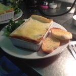 Lasagne with Garlic Bread and Side Salad.