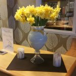 Pretty flowers in reception in Good Friday