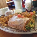 Breakfast burrito awesomeness.