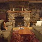 Barn basement activity room--so cozy and tasteful!