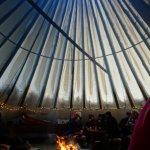 Inside in the warm