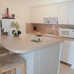 Kitchen of one and two bedroom apartments.