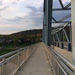View of Hotel on Bridge Walk from Kentucky