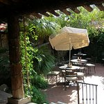 Inner courtyard dining at Tohono Chul Bistro