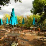 Tohono Chul Bistro Patio bumps right up against nature..