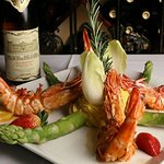 Grilled Prawns with vegetables