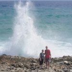 Lots of sea spray here from the Blow Holes