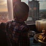 My son enjoying the views