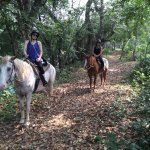 Horseback riding along the Mopan River