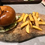 my £9.99 burger and chips at howdys in bradford