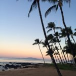My first sunset in Maui. This is the Maui Days Inn Oceanfront Beach.