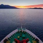 Sailing towards a gorgeous sunset