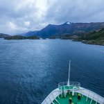 Heading towards the most narrow part of the fjords (only 60m wide!)