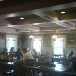Dining room. This replicates a colonial waterfront inn where the whalers would take a break from
