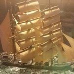 A sailing ship model.