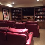 library/media room for borrowing books or watching movies