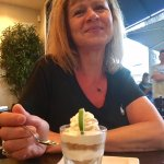 Da wife about to devour a Key Lime Parfait