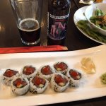 Excellent Edamame and spicy tuna roll.