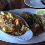 Grilled grouper with Captain's rice