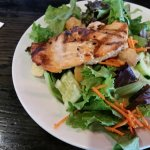 Side garden salad plus a piece of salmon
