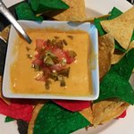 Castle John's - Cheese dip with nachos