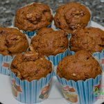 Fluffy Walnut Cinnamon Muffin. Muffins just waiting to be eaten. #muffins