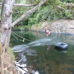 the rope swing at the swimming hole