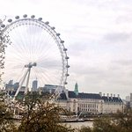 The London Eye and the river view from the room
