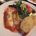 Cannelloni & Ham Egg & Chips followed by desserts