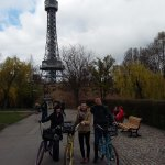 One of our stops - Prague's own Eiffel tower!