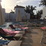 Sun beds at Dawn