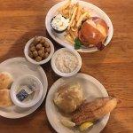 Catfish and a hamburger