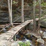 Puente de madera muy cerca del final