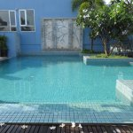 This is actually the pool at the Frangipani Hotel that you can use for $7 - definitely worth it!