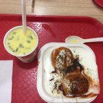 Dahi bhalla and masala milk