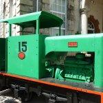 Train engine outside Museum