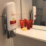 Shampoo, shower gel, body lotion included