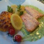 Pavé de saumon - sauce verte