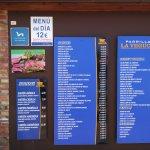 Carteles del restaurante carta y precios