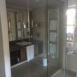Bathroom with glass surrounds