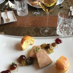 Fois gras with riesling gelé
