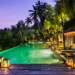 Jungle Fish pool bar by night