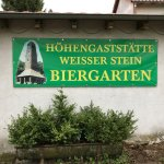 Biergarten - Hinweisschild