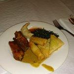 Starters: Ribs, pancake rolls, samosas, satay chicken etc