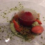 dessert pistache fraise noisette